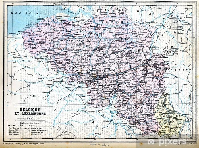 Luxemburgin Belgia Kartta Tapetti Pixers Elamme Muutoksille