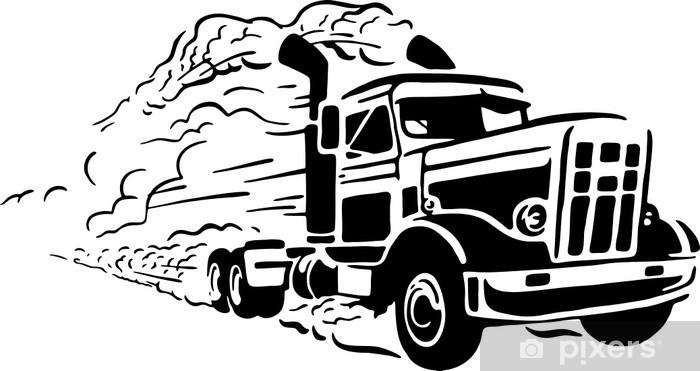 Nálepka Pixerstick Vintage truck - Na cestě