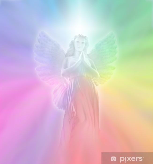 Pixerstick-klistremerke Angel of Divine Light, myk uskarphet - Themes