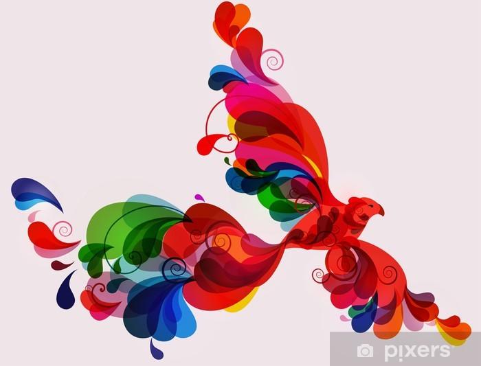 Illustration of colorful phoenix bird Vinyl Wall Mural - Art and Creation