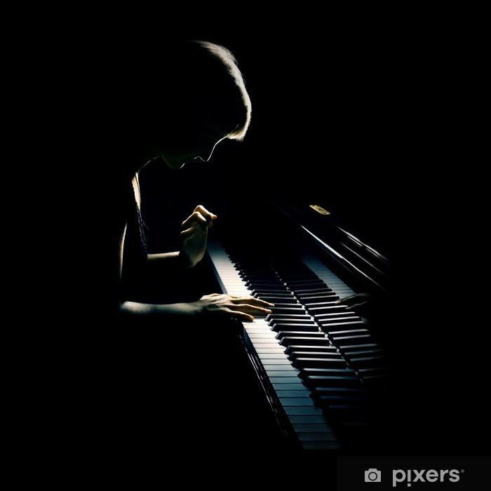 Pixerstick Aufkleber Klavier spielen Pianisten Konzert. Klassische Musik - Klavier