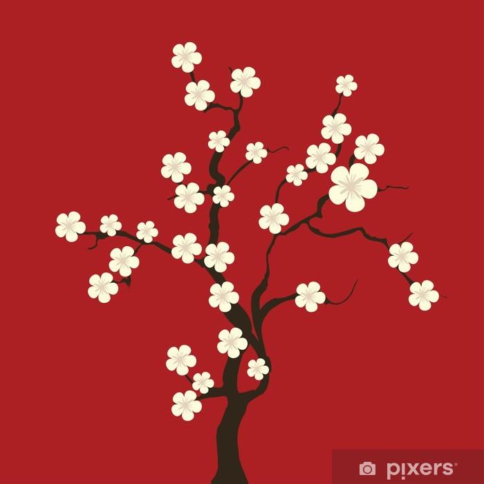Papier peint vinyle Fleur de cerisier - Thèmes