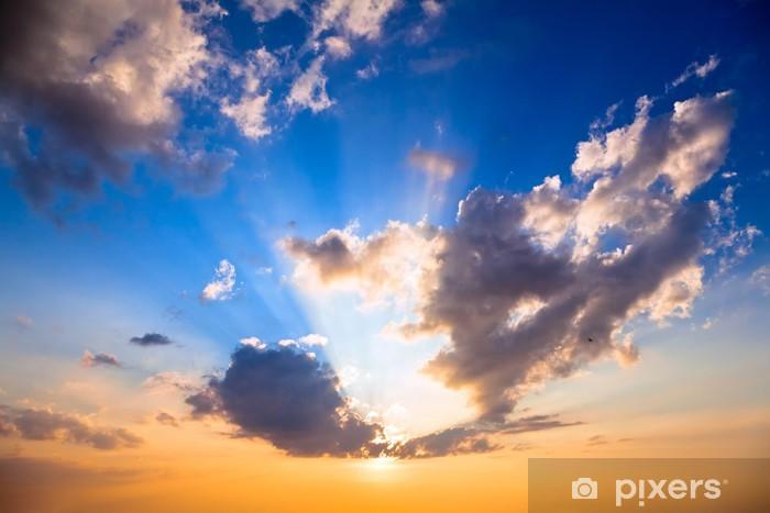 Naklejka Pixerstick Niebo na zachodzie słońca - Niebo