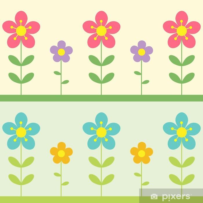 Plakat Wektor tła z kwiatów. Dwa warianty. - Pory roku