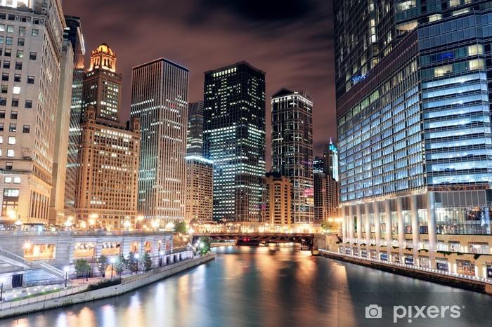 Naklejka Pixerstick Chicago River Walk - Tematy