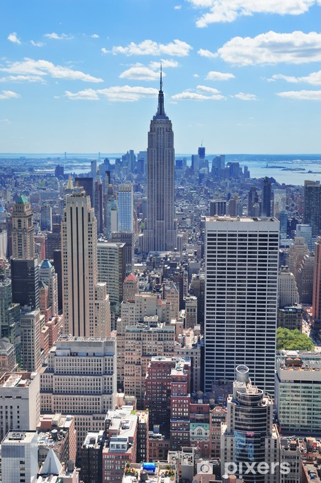 Naklejka Pixerstick Nowy Jork Empire State Building - Tematy