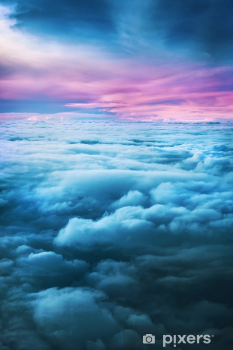 Sunset above the clouds Vinyl Wall Mural - Skies