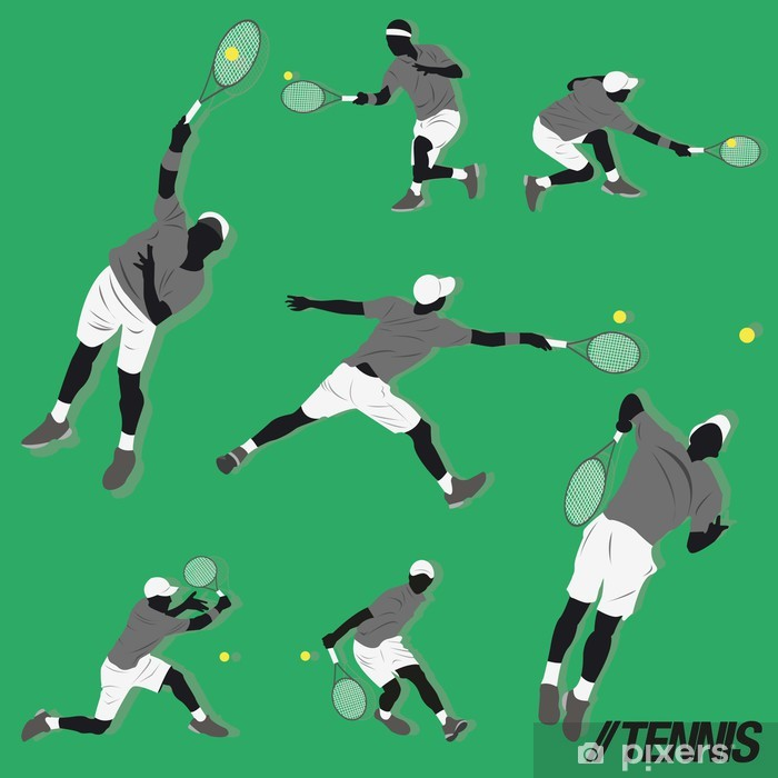 Plakat Kolekcja tenis - Sporty na świeżym powietrzu
