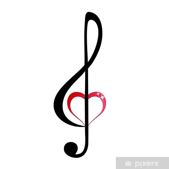 Carta Da Parati Shiny Cuore Chiave Di Violino Pixers Viviamo