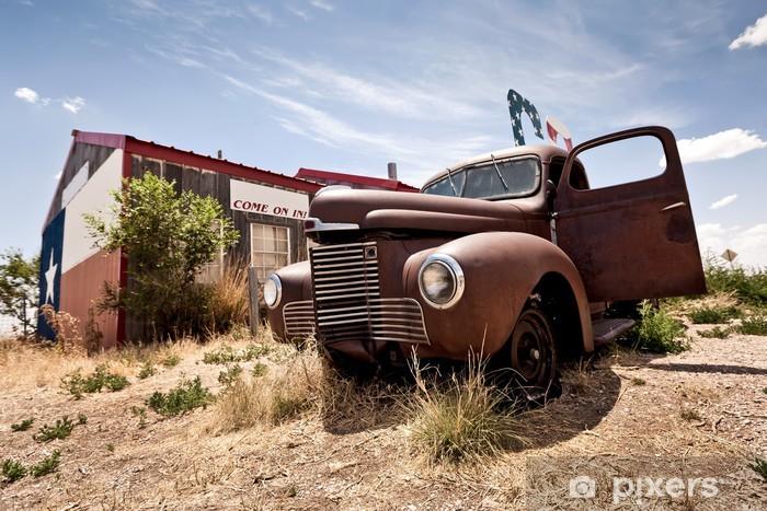 Papier Peint Autocollant Restaraunt abandonné sur la route 66 route aux Etats-Unis - Art et création
