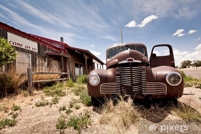 Abandoned restaraunt on route 66 road in USA Vinyl Wall Mural - Themes