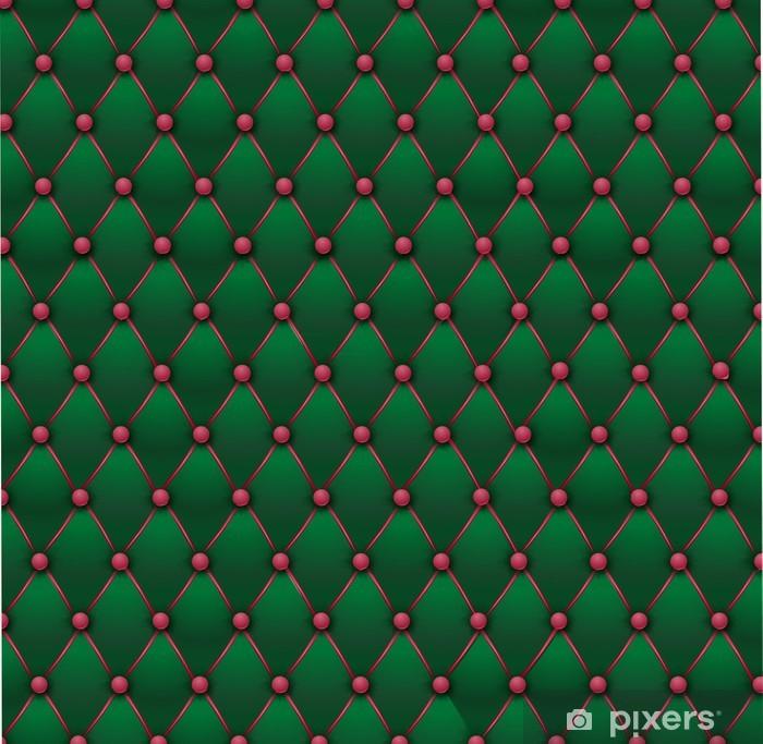 Pixerstick Sticker Chesterfield - groen en roze bekleding stof - Stijlen