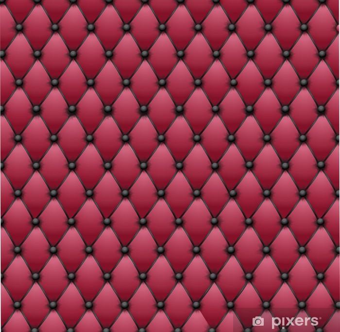 Pixerstick Sticker Chesterfield - zwart en roze bekleding stof - Stijlen