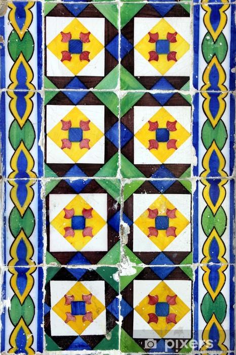 Sticker Pixerstick Azulejo à Lisbonne - Villes européennes
