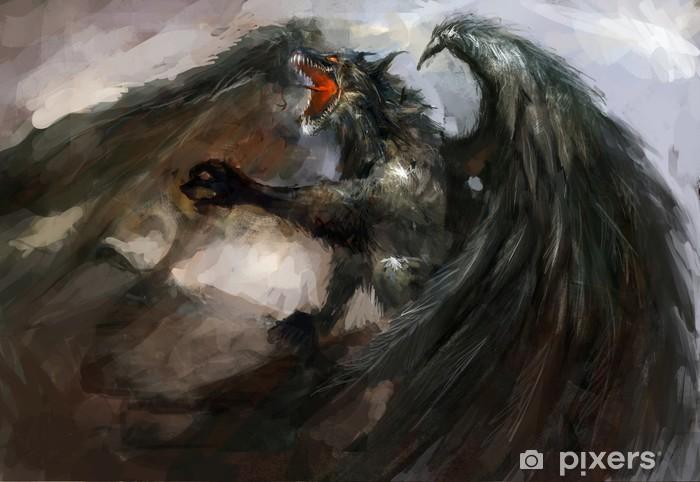 Papier peint vinyle Dragon attack - Thèmes
