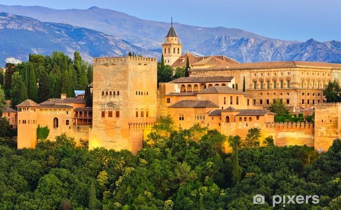 Vinyl Fotobehang Alhambra, Granada, Spanje - Thema's