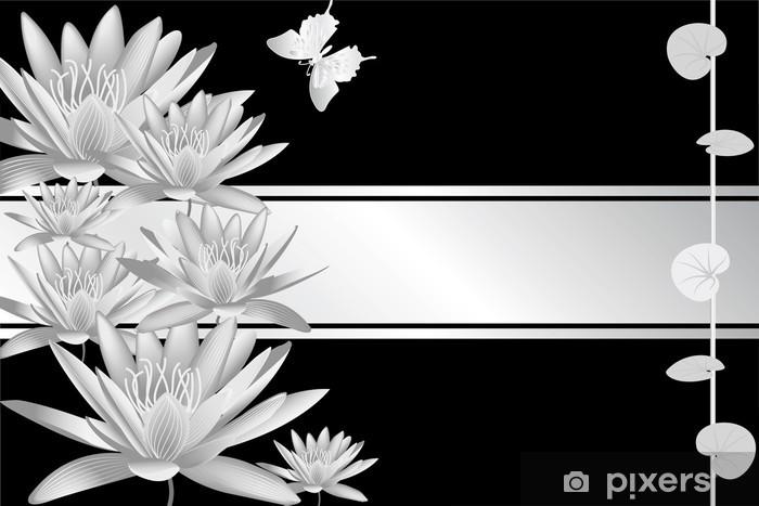 Vinyl Fotobehang Zilver waterlelie - Tekens en Symbolen