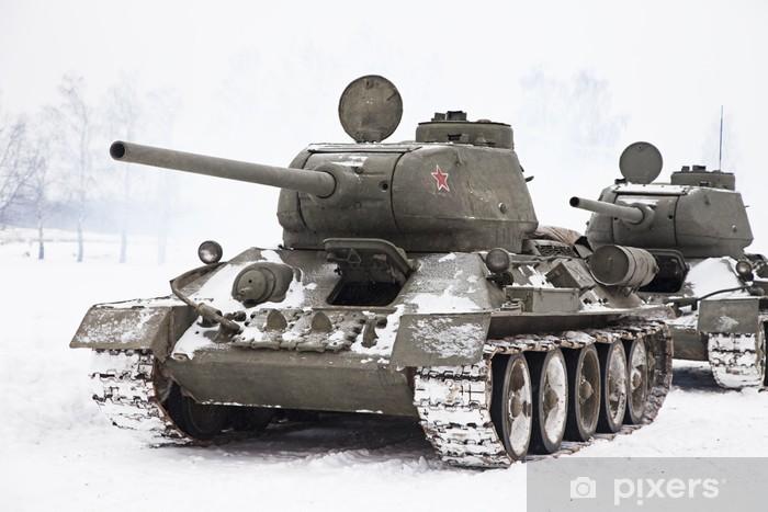 Fototapeta winylowa Rosyjskie czołgi T34 - Tematy