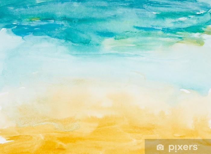 Vinyl Fotobehang Kleur lijnen aquarel schilderij kunst - Thema's