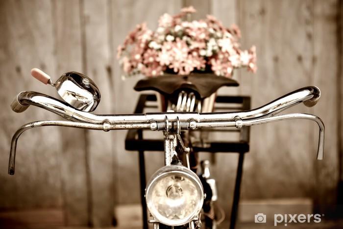 Naklejka Pixerstick Stary rower i Wazon - Tematy