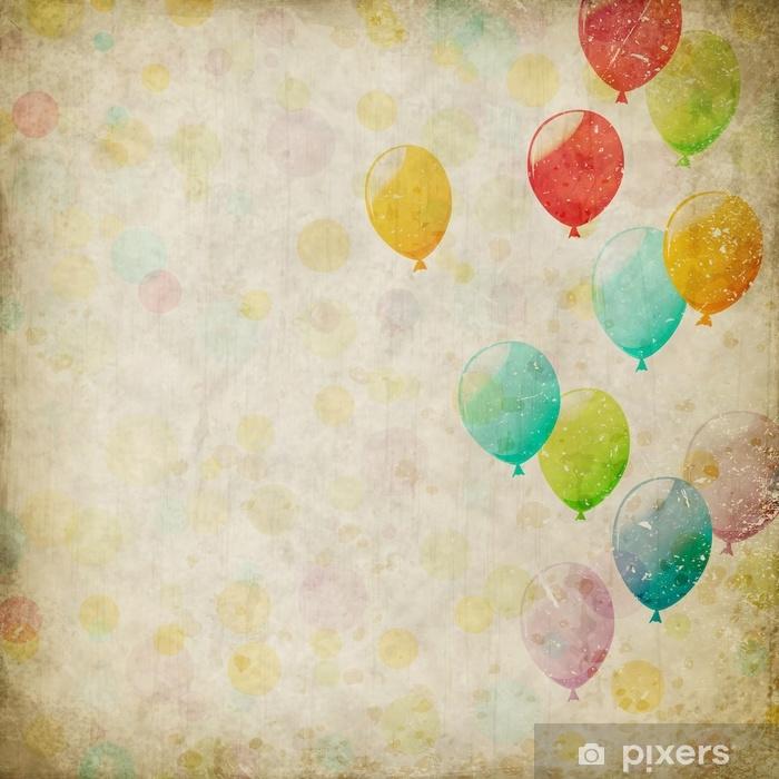 Fototapeta winylowa Tło grunge z balonami - Hobby i rozrywka