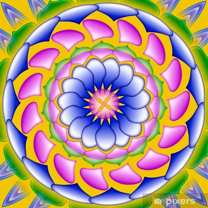 Poster Variopinto mandala, cerchio disegno geometrico sacro - Astratto