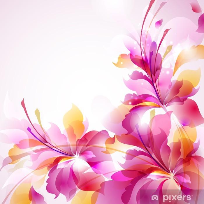 Plakát Tender pozadí s třemi abstraktní květiny - Květiny