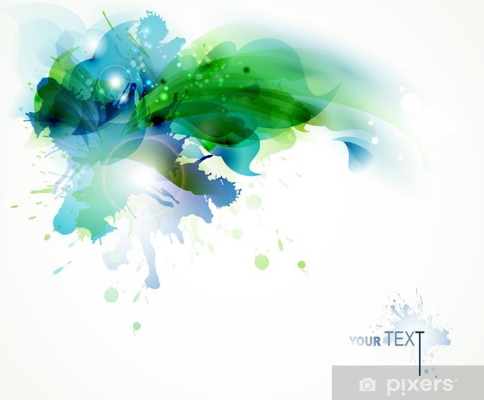 Naklejka Pixerstick Abstract background z plamami niebieski i zielony - Inne uczucia