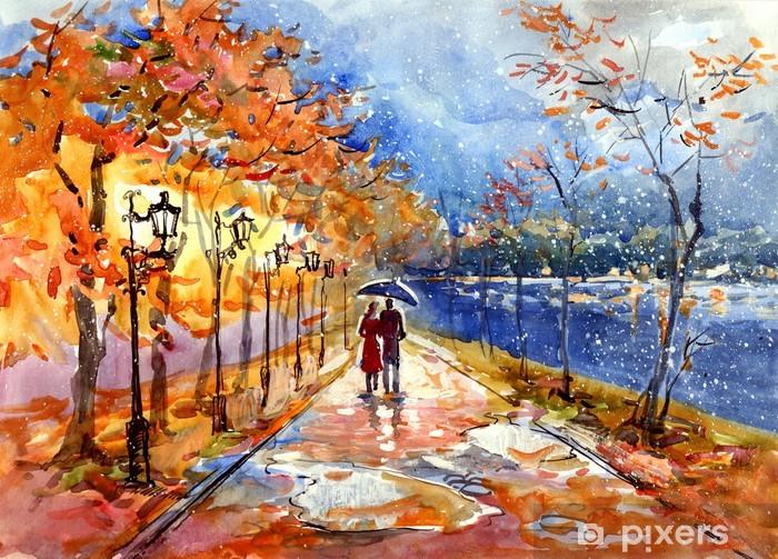 Fotomural Estándar Parque de otoño (serie C) - Temas