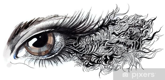 Fototapeta winylowa Abstrakcyjne oko (seria C) - Tematy
