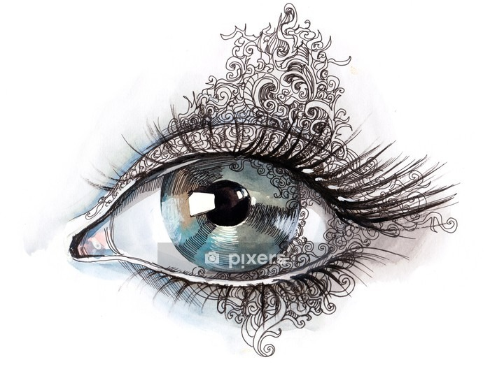 abstract eye (series C) Wall Decal - Wall decals