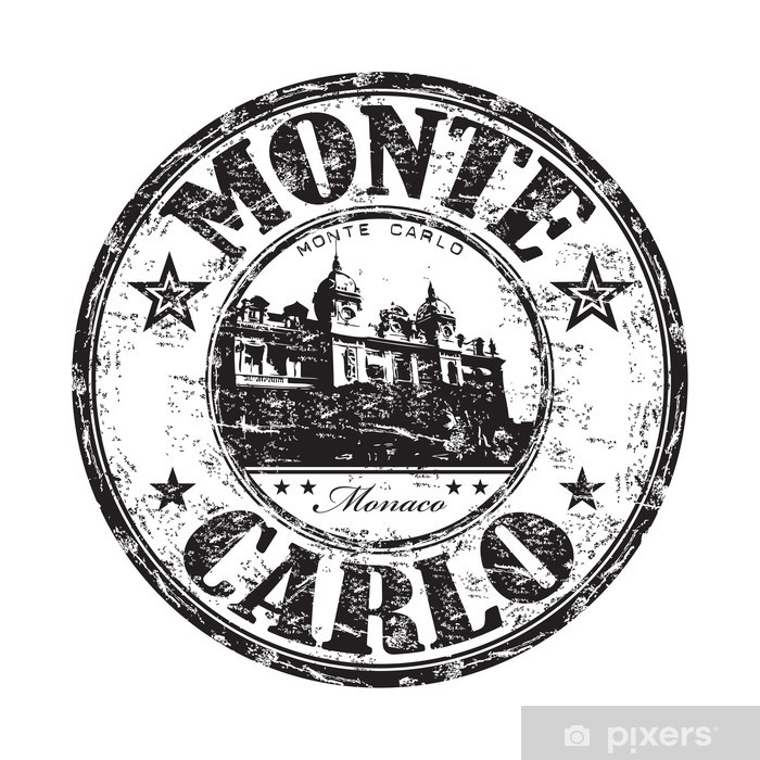 Poster Monte Carlo rubber stamp - Europe