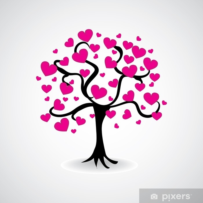 tree from hearts Vinyl Wall Mural - Plants and Flowers
