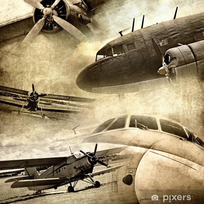 Papier peint vinyle Retro aviation, grunge - Thèmes