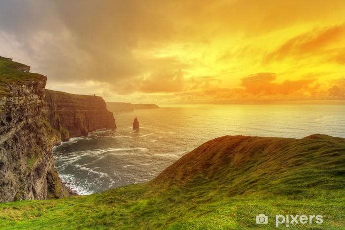 Idyllic Cliffs in Ireland Pixerstick Sticker - Themes