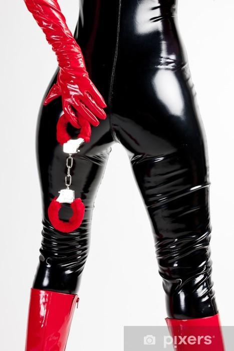 baed1bd2b Pixerstick-klistremerke Detalj av stående kvinne med håndjern