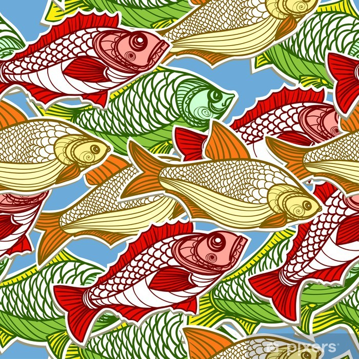 Plakat Ryb w morzu - Tekstury