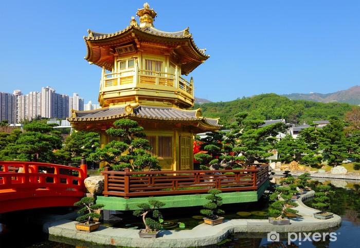 Sticker Pixerstick Pavillon dans le jardin chinois - Propriétés privées