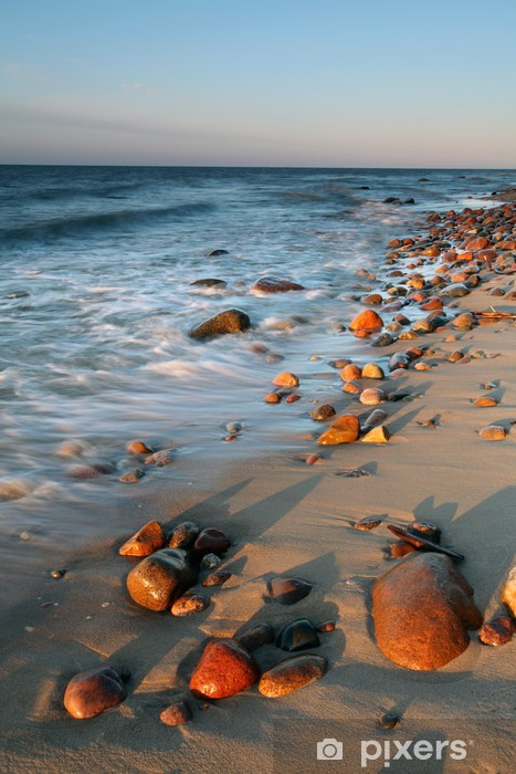 Stones on shore of the Baltic Sea. Pixerstick Sticker - Themes
