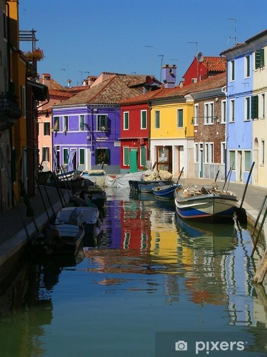 Fotomural Estándar Burano casas de colores - Ciudades europeas