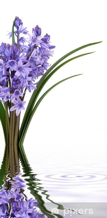 Bluebell Flowers Wardrobe Sticker - Abstract