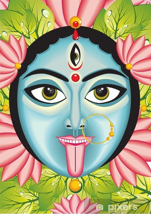 Pixerstick Aufkleber Kali - Indische Göttin Gesicht. - Religion