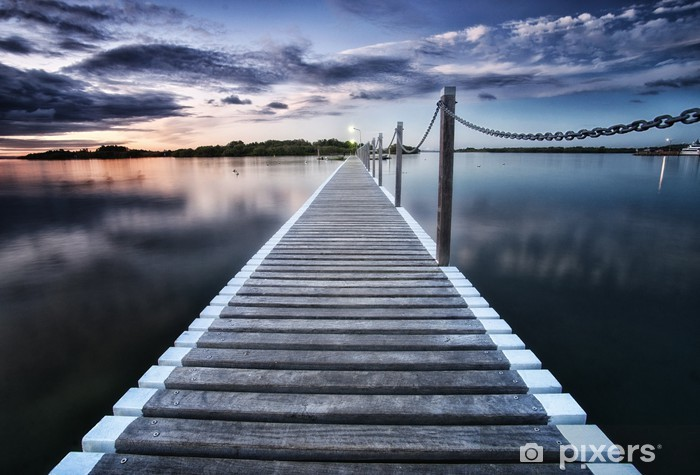 pontoon jetty across the water Vinyl Wall Mural - Pier