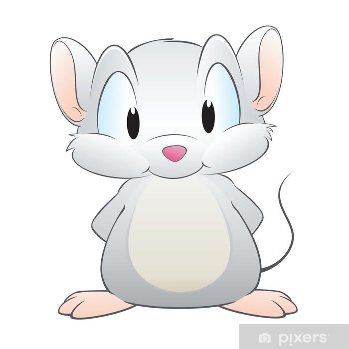 Cartoon Mouse Sticker Pixerstick