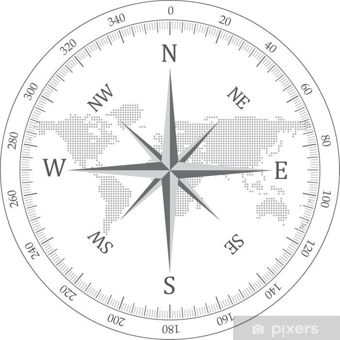 Fototapeta winylowa Czarny kompas - Znaki i symbole