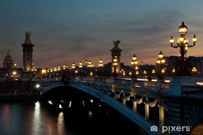 Sticker Pixerstick Pont Alexandre III à Paris le soir - Thèmes