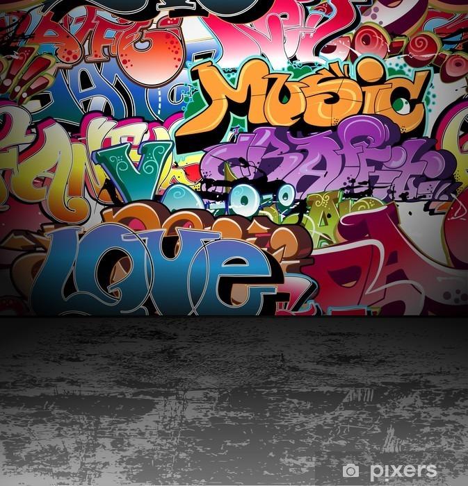 Graffiti wall urban street art painting Vinyl Wall Mural - Themes