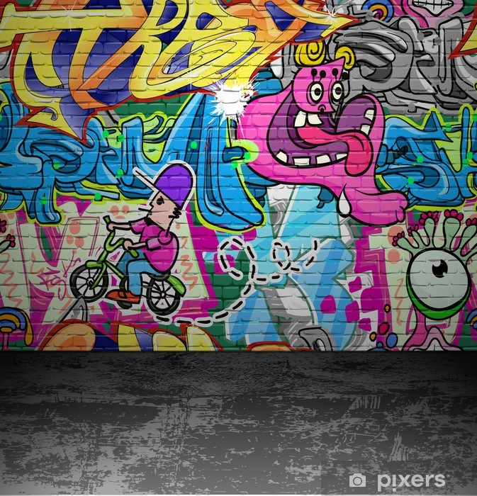Graffiti wall urban street art painting Vinyl Wall Mural - Themes