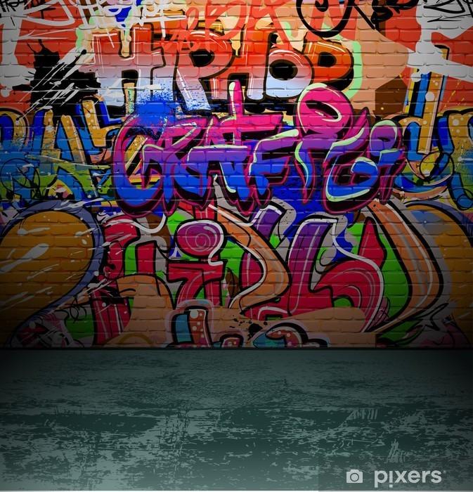 Vinyl Fotobehang Graffiti muur urban street art schilderij - Bestemmingen