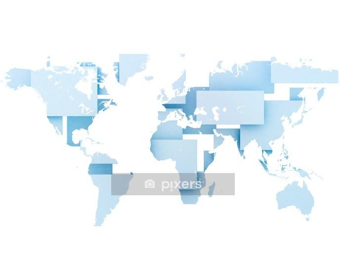 Maailman Kartta Digitaalinen Kuva Seinatarra Pixers Elamme